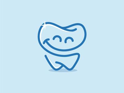HappyTooth monoline tooth happy