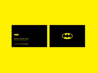 Batman_BusCard superhero weekly warm-up minimalist batman businesscard