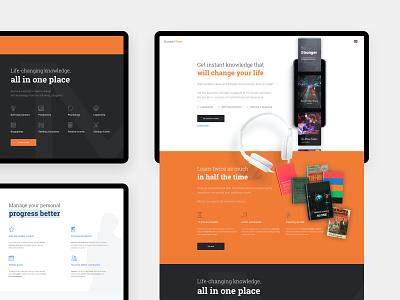 SuccessMaker landing page app clean layout landing page design minimal website ux web design web