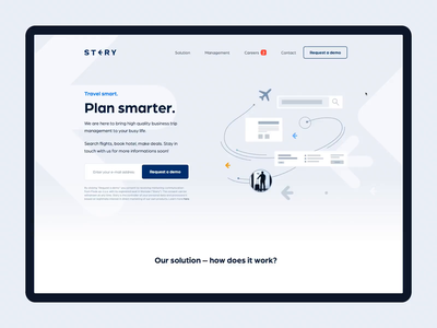 A sleek website for business trip management app clean minimal web policy report travel website booking airplane flight hotel management planning trip planner app business trip trip