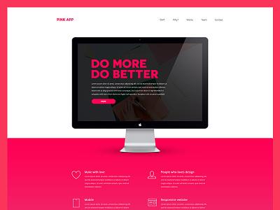 Pink App - Side Project side site website minimal pink web ux ui web design
