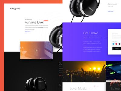 Creative Aurvana Live  Landing Page Concept