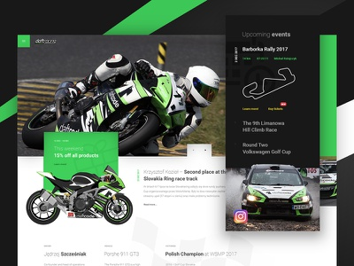 Daftracing - racing team website concept intro hero speed concept layout racing ui ux motorcycle car web website