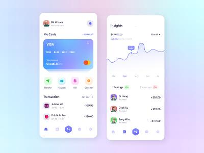 Mobile Banking App banking app bank mobile app financial app financial expense ui expense finance ui banking web banking ui finance wallet banking mobile banking ux ui