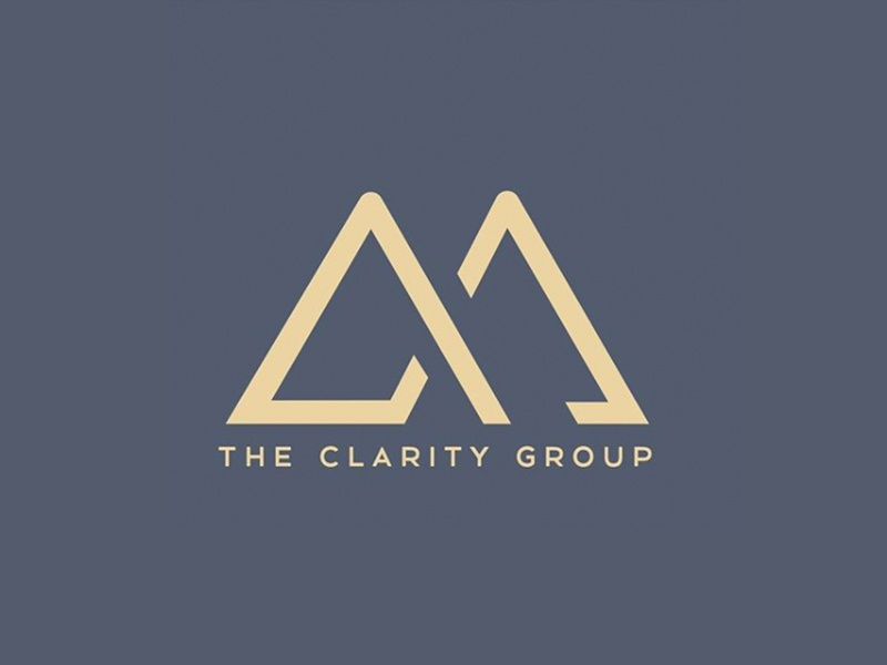 The Clarity Group mountains design icon branding logo graphic design