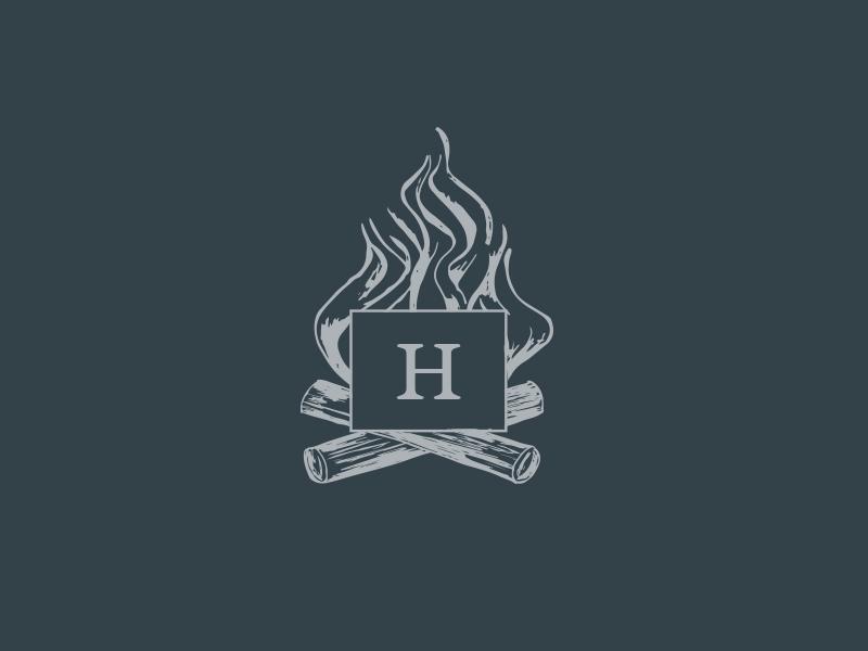 Bonfire graphic drawing design logo illustration