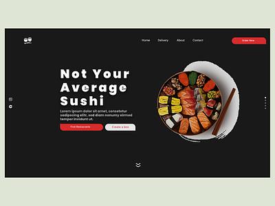 Sushi - Clean landing page website clean adobe xd restaurant sushi landing page design web design