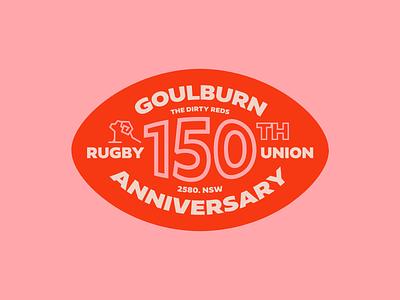 Goulburn Reds 150th anniversary anniversary retro branding sports branding ram typography illustration sport rugby