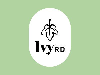 Ivy Rd – stacked typogaphy vintage rustic branding leaf logo logo icon leaf road ivy