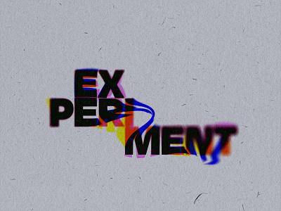 Experiment bleed ink print grunge typography branding