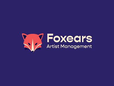 Foxears logo animal illustration illustration icon flat design branding brand identity logo vector animal logo animal fox