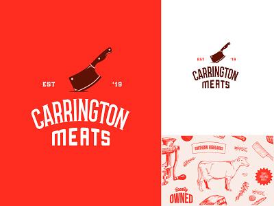 Butcher meats logo pattern illustration pattern illustration meat butcher vintage branding design branding brand logo logo design vector design