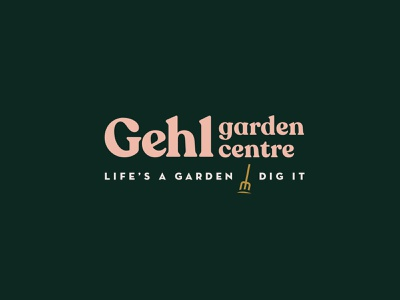 Garden centre logo plant logo design retro font logo design logodesign logotype plant landscape gardener gardening logo garden