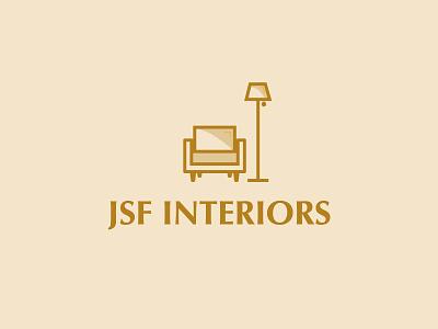 Interiors logo minimalist logo minimal clean simple warm gold interior designer interior design icon illustrator vector brand identity branding design branding furniture shop furniture store furniture logodesign logo design logo