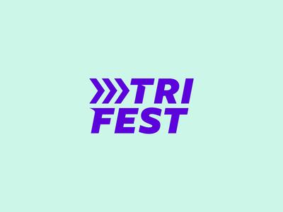 Triathlon festival logo