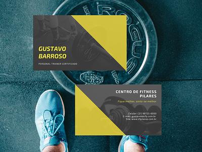 Cartão de Visita - Personal Trainer logotipo cartão de visita typography logo art icon design branding