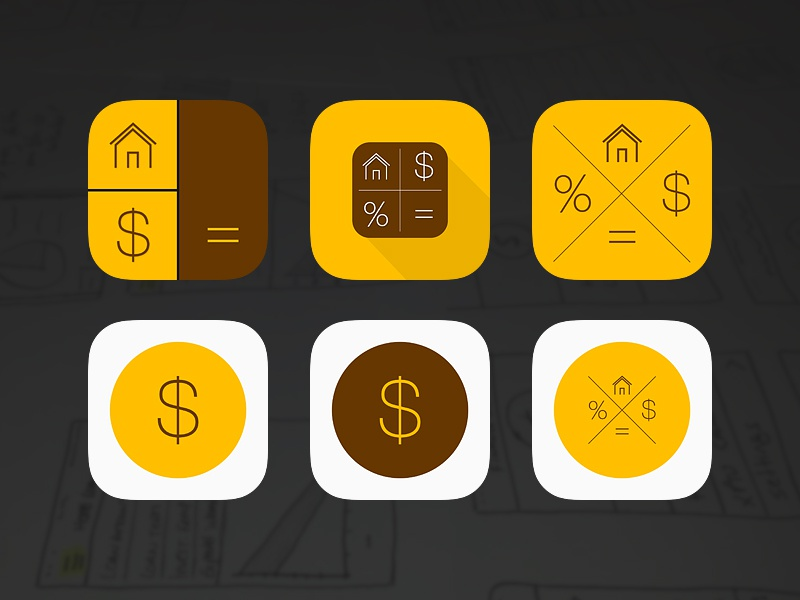 iPhone Finance calculator app icon by Bruno Garcia on Dribbble