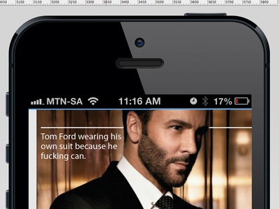Marvin is a Friend of Mine ui mobile magazine layout interface design user experience
