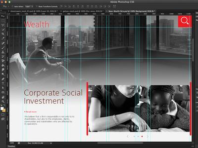 Wealth Layout ux ui wealth banking photoshop