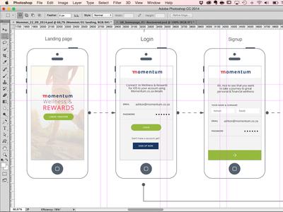 Mometum Engagement Mobile App ux ui concept