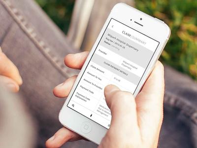 Momemtum photo realistic mockup mobile ux navigation wireframe insurance health finance app
