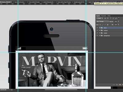 Marvin concept iphone ux ui magazine digital work in progress photoshop creative lifestyle mobile