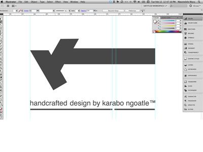 Karabo Ngoatle brand illustrator guides black  white tagline k identity