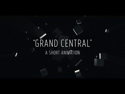 """Grand Central"" animation particles shortmovie odyssey space 2001 clarke"