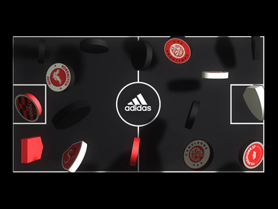 Adidas Tango League Paris 2018 (1/2) adidas playground field teams lines football soccer 3d shapes