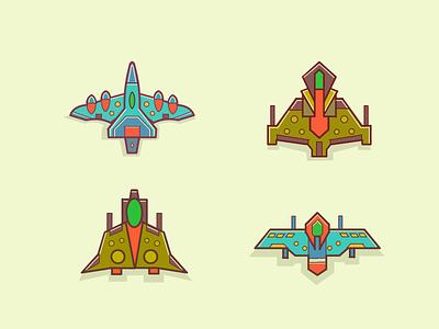 spaceships video game spaceships illustration spaceships logo spaceships