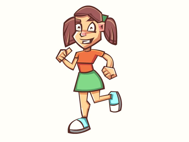 Girl Mascot girl nerd mascot