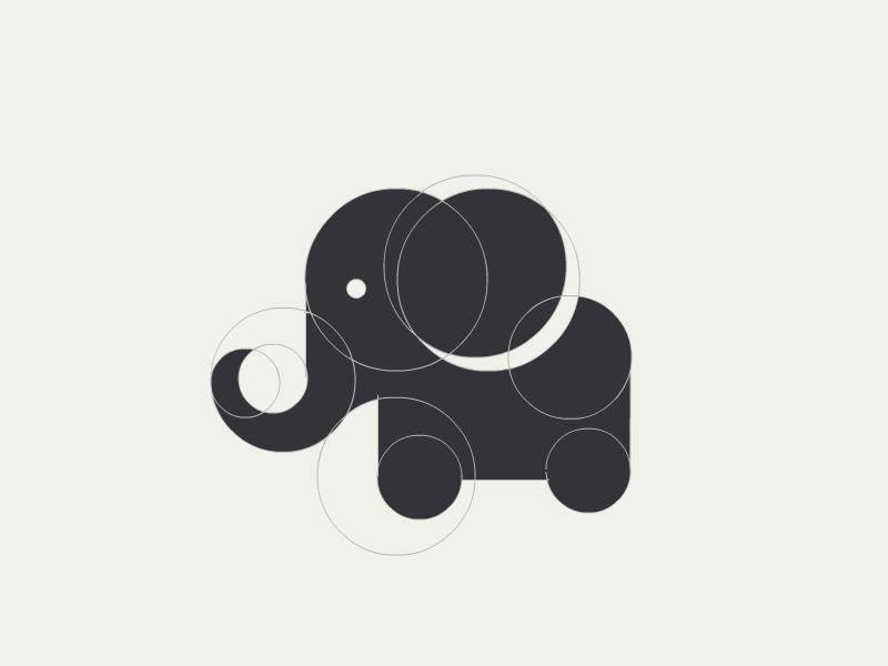 Elephant WIP logo zoo animal elephant