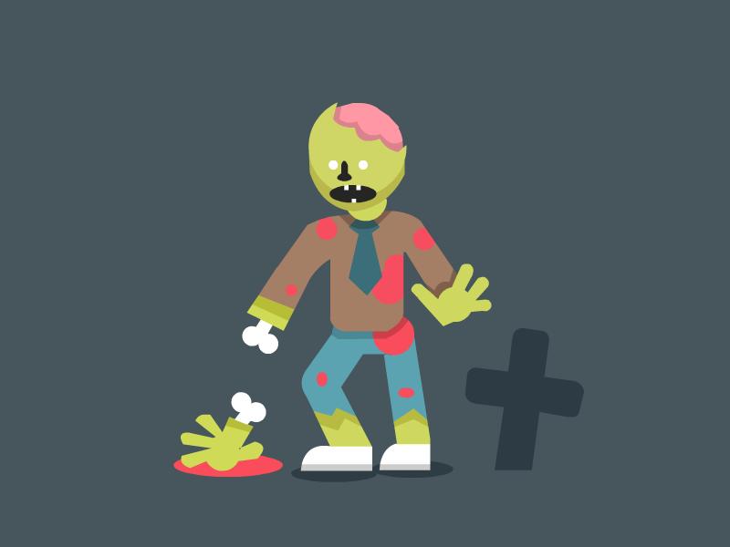 Zombie Guy horror spooky grave yard zombie