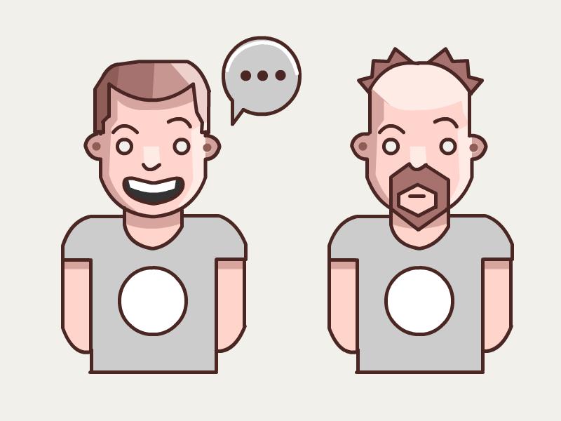 Talking face vector guys pokemon talking talk chat