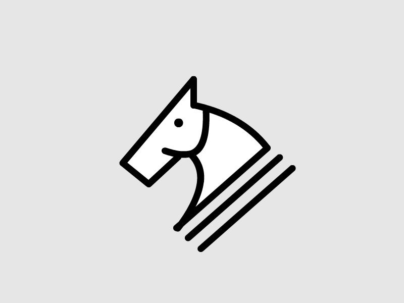 Horse Logo modern clean symbol logo horse