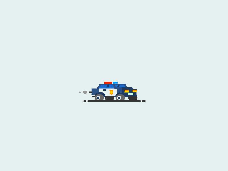 Police Car van car police car