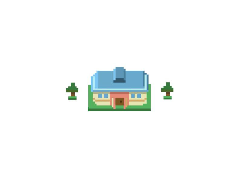 Pixel House building house pixel