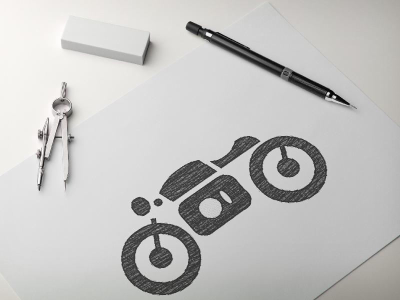Motobike Sketch WIP branding design vector logo wip sketch motobike