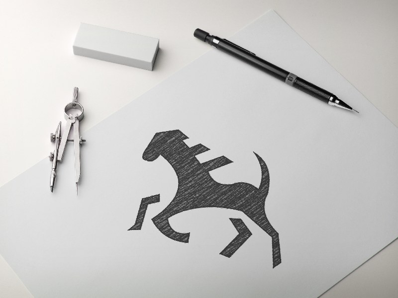 Horse Logo WIP sketch logo sketch horse logo illustration branding logo