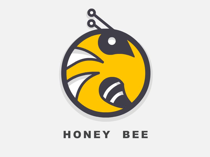 Honey Bee insect bee icon branding logo