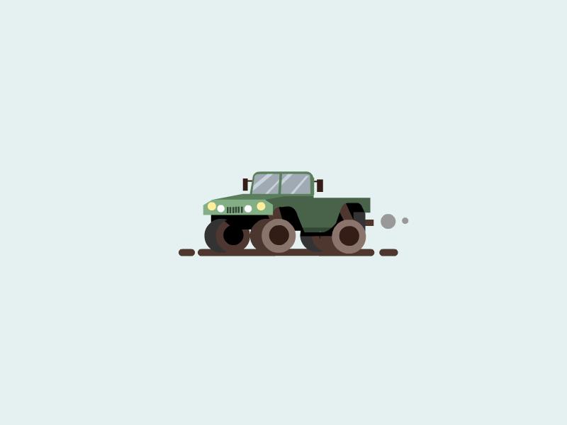 Small Truck cute military car small truck