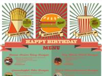 Regina's Birthday Menu