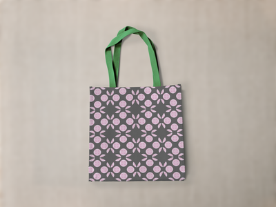 Diamonds and polkadots paint pour kaleidoscope design repeat pattern