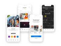 Postboard App Design white ios clean iphone flat app interface ux design ui
