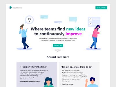 Marketing Site Homepage Design white flat ux interface design ui ui8 clean front-end web design homepage marketing website web