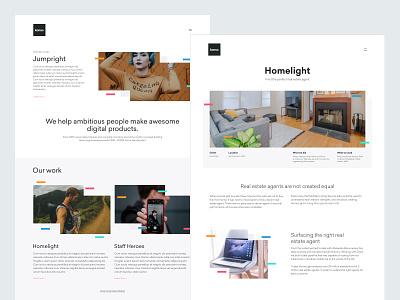 Design Agency Website Design functional clean white ux ui web design portfolio landing page marketing site agency website design ui design marketing website design agency
