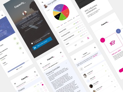 Specialist Recruitment Application application ui iphone ios responsive marketplace interface ui design ux ui specialist finance grading experience skills hired hiring jobs apply application recruitment