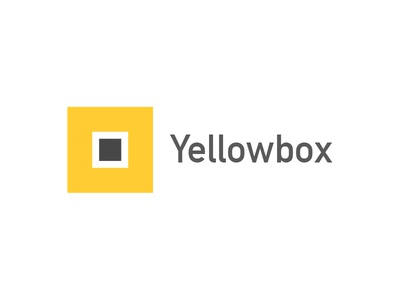 Yellowbox Branding yellow icon logotype startup contacts app design branding logo