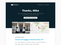CityStasher Email Template