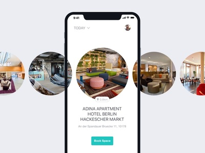 Workspace UI Preview iphonex iphone ios booking hotels app design app workspace ux ui interface